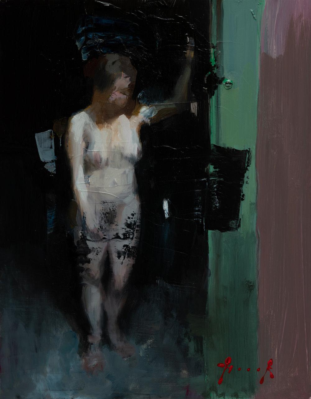 Green door (oil sketch)