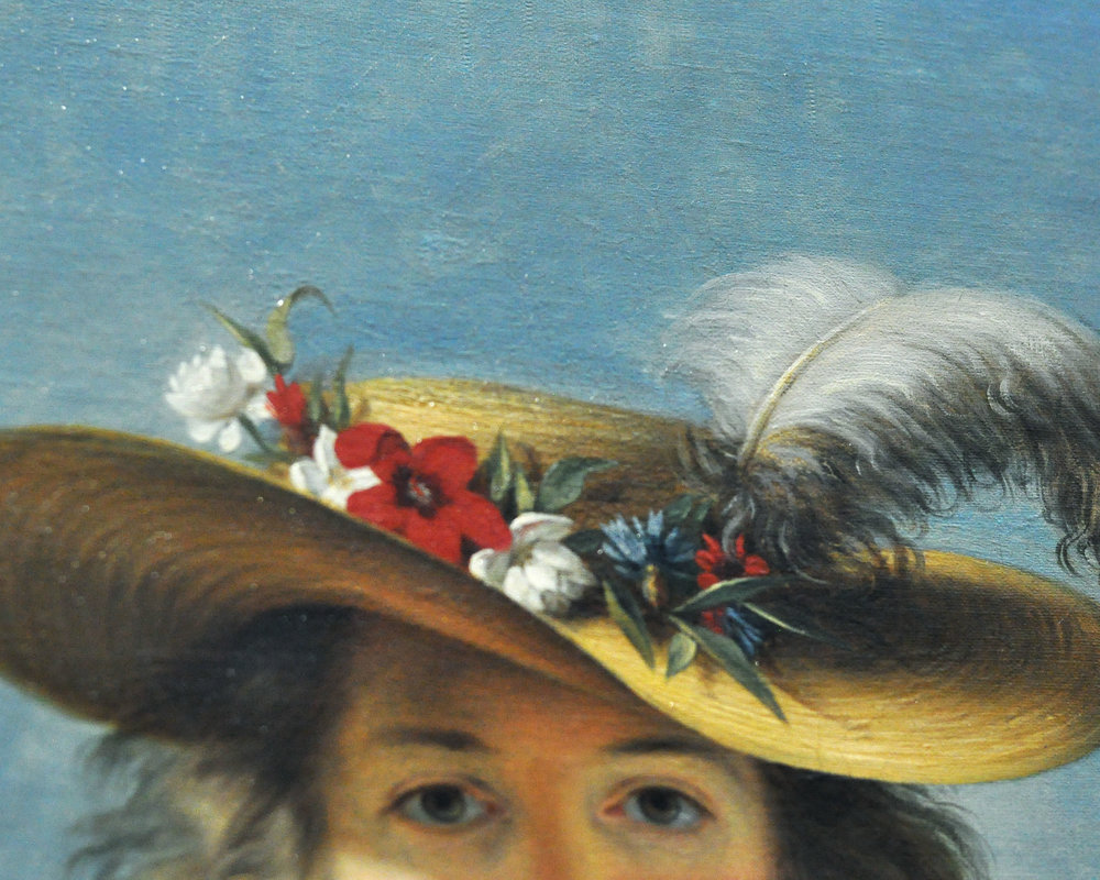Self Portrait in a Straw Hat , 1782,  Elisabeth Louise Vigee Le Brun