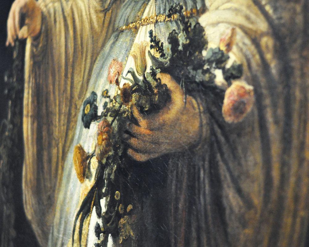 Saskia van Uylenburgh in Arcadian Costume , 1635,  Rembrandt