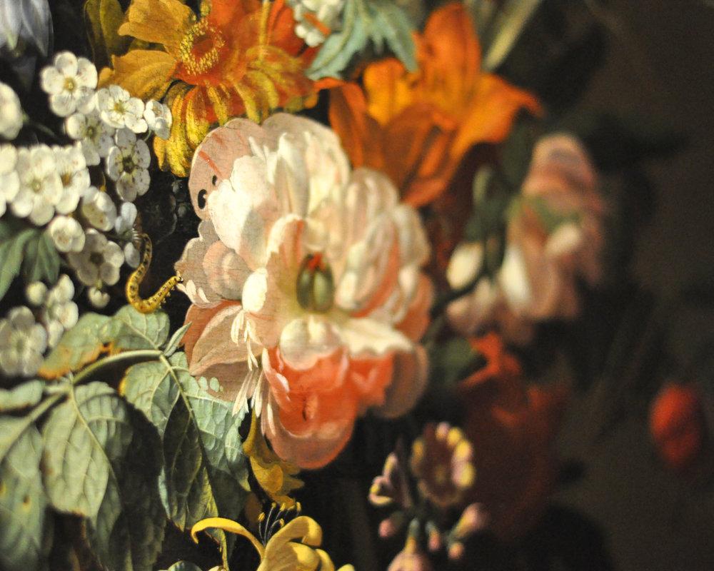 Flowers in a Vase , 1685,  Rachel Ruysch