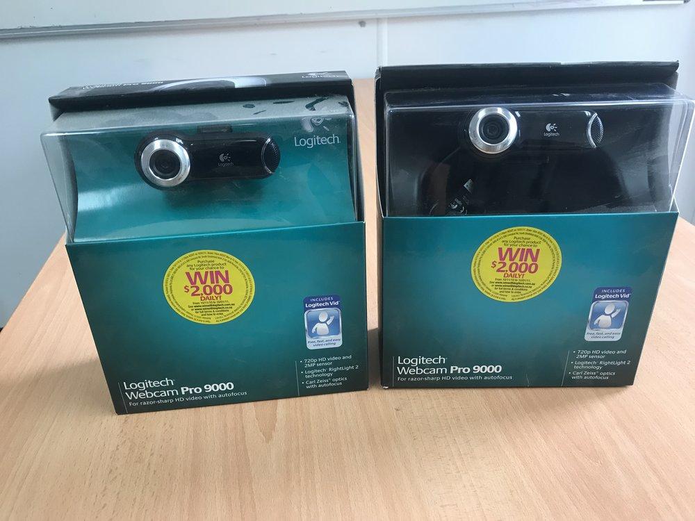 Brand new, in box - Logitech webcams.