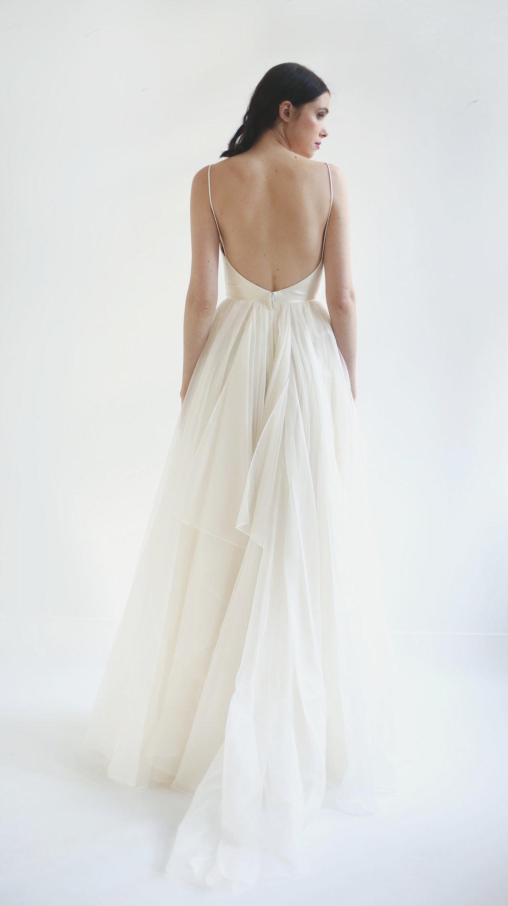 Rainbow Ruffle Wedding Dress