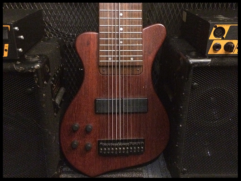 12 string Raptor Series (Pauduk body, maple neck w/Pau Ferro fretboard and Bartolini electronics)