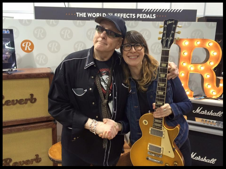 Anna Blumenthal with Rick Nielsen of Cheap Trick