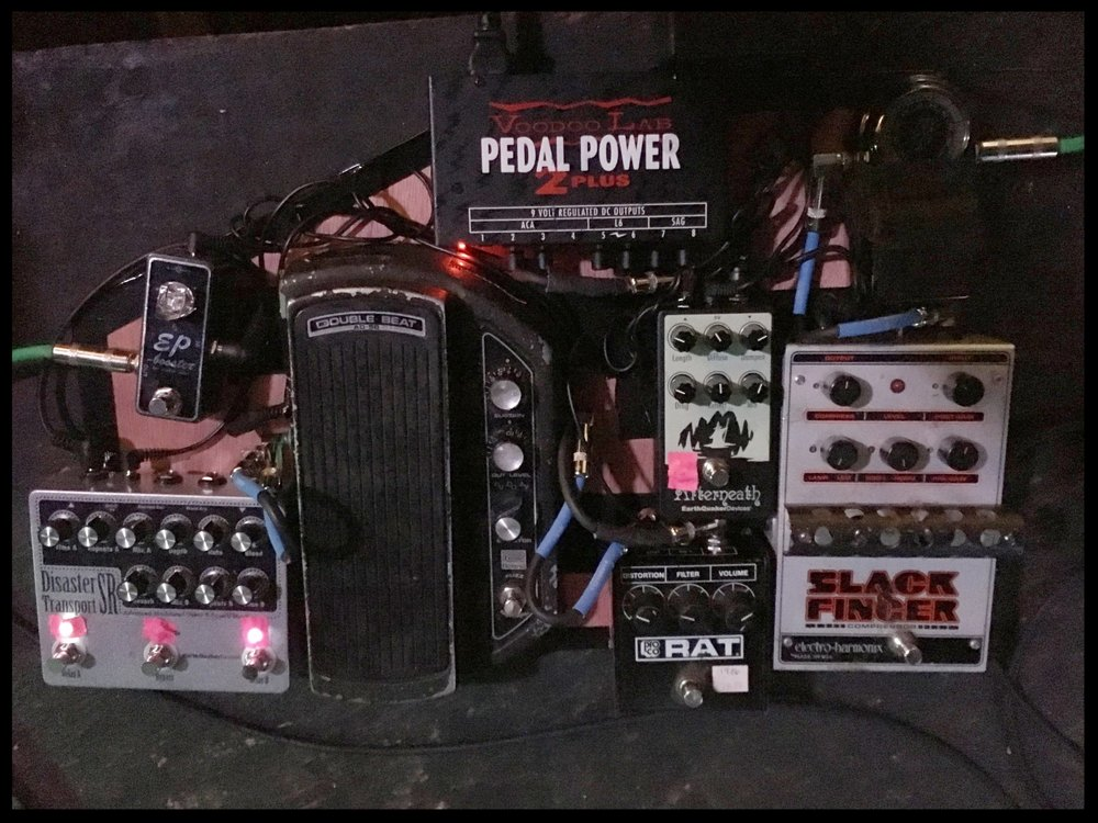 Whitney Petty's pedalboard. Photo: Anna Blumenthal.