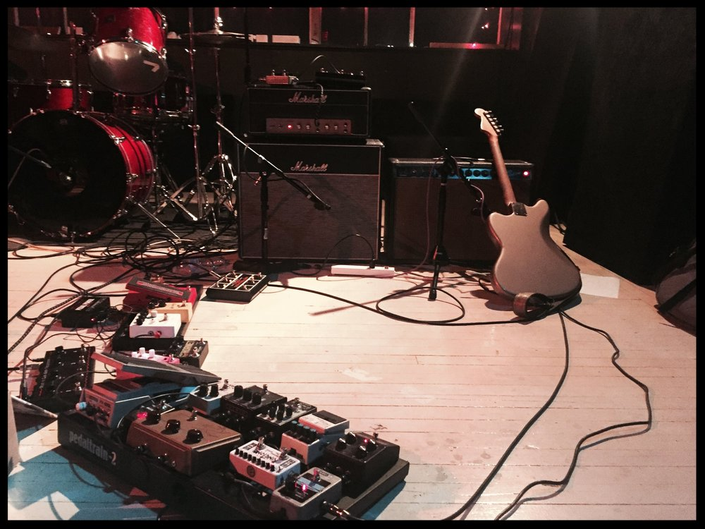 Anthony Pirog's guitar rig. Photo: Aaron Rogers