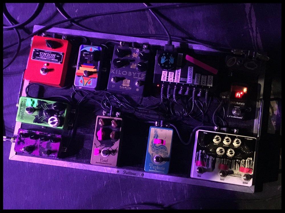 Kyle Hunt's pedalboard