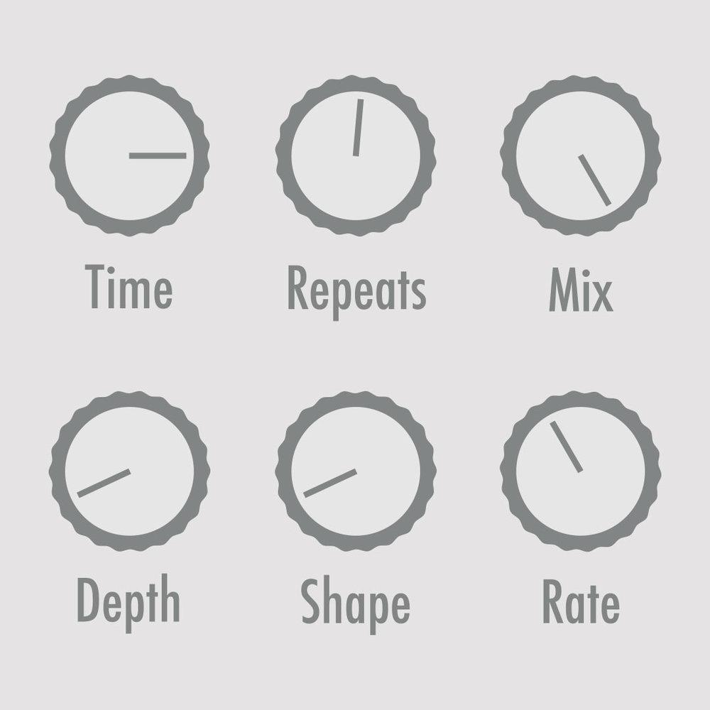 Arpeggio Echo  Sound-on-sound style echo perfect for unaccompanied solos and extrapolations.