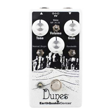 The Dunes is a great stand alone or to be used in conjunction with other OD pedals to give the extra kick for a solo/lead part. It's a very versatile pedal with 3 different styles of overdrive that covers a lot of ground between them, from classic tube screamer style sounds to explosive Jack White console style fuzz (especially Si mode).