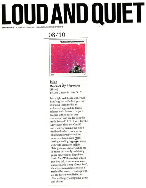 8/10 Released By The Movement review:   Loud & Quiet 2013