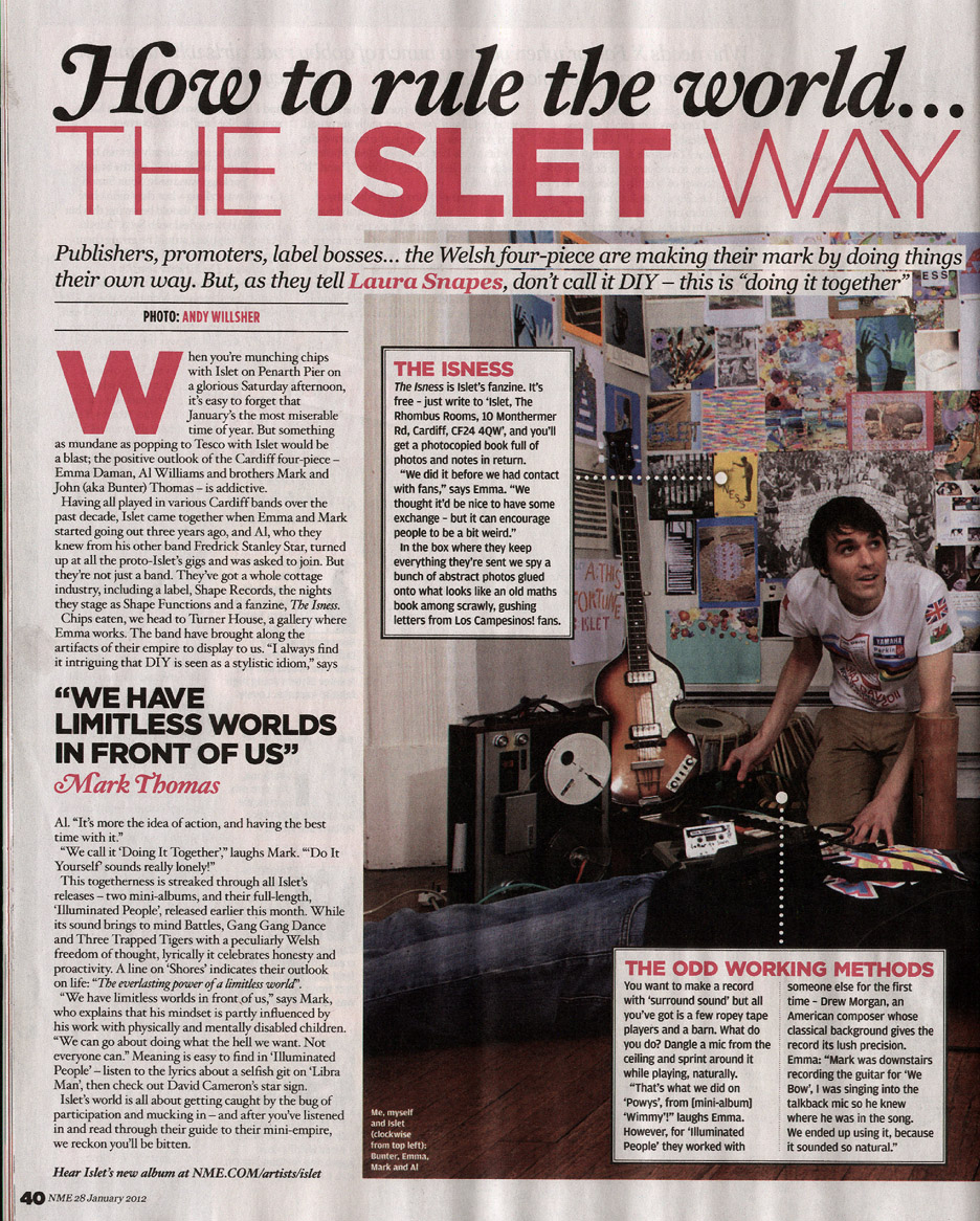 NME feature 2012