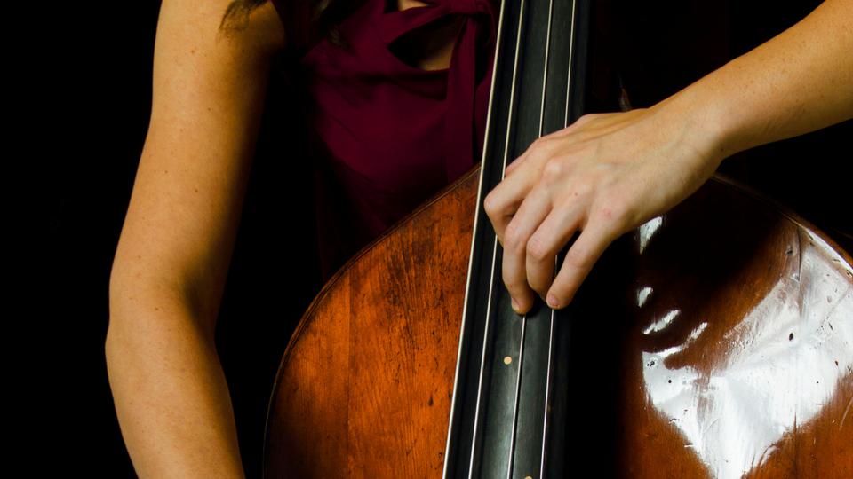 Double Bass Thumb Position by Lauren Pierce