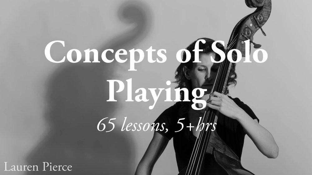 Concepts of Solo Playing