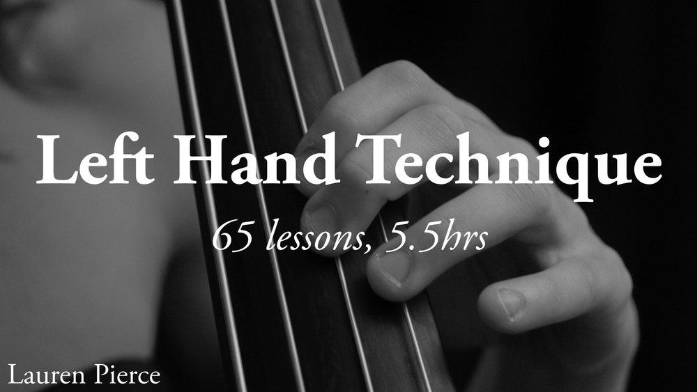 Double Bass Left Hand Technique
