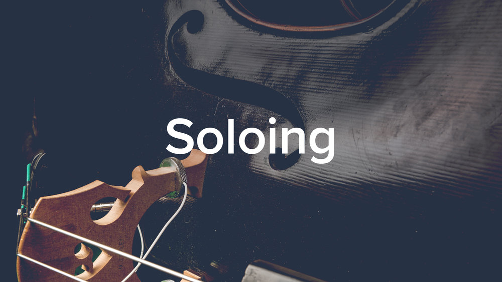 'Soloing: A step-by-step method for double bassists' by Geoff Chalmers. 50 lessons, 4.5hrs.