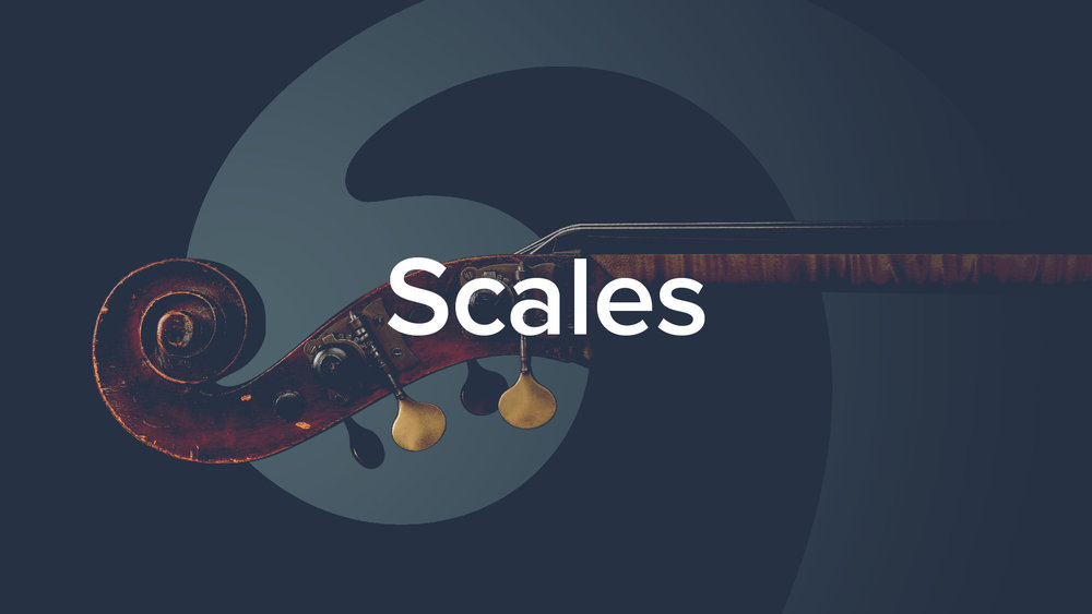 'Double Bass Scales: The play-along collection' by Geoff Chalmers.