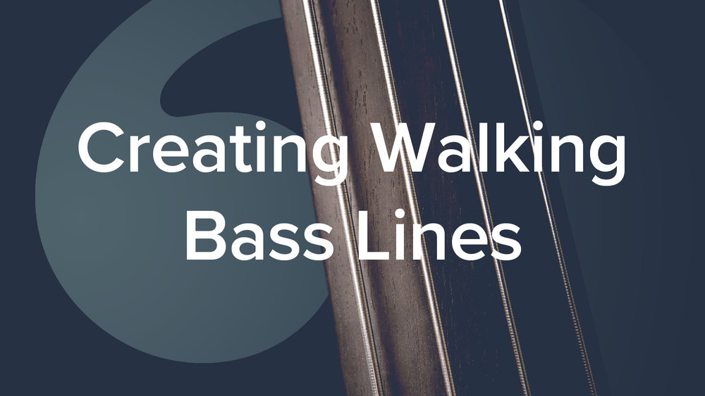 'Creating Walking Bass Lines' by Geoff Chalmers. 69 lessons, 6hrs.