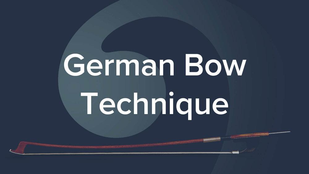 German Bow Technique - David Allen Moore