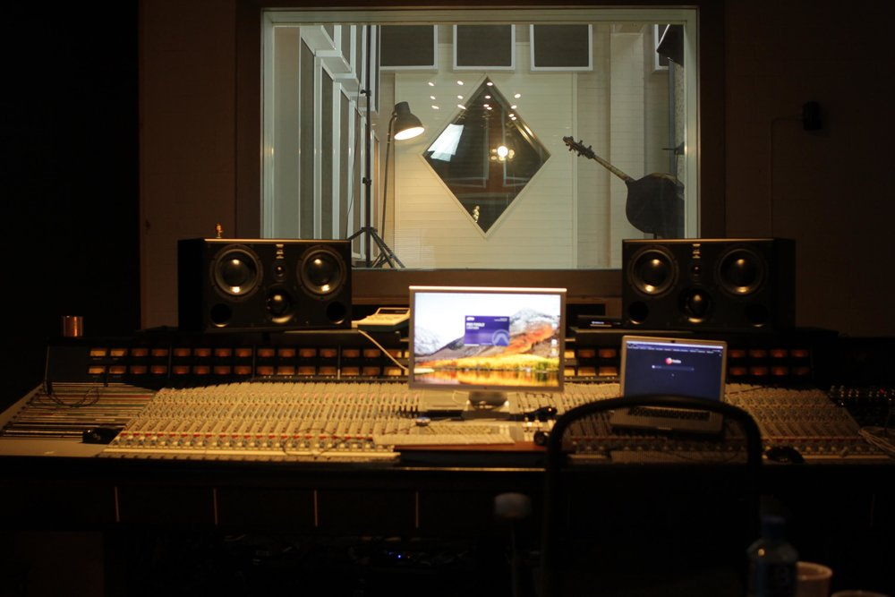 The recording studio.