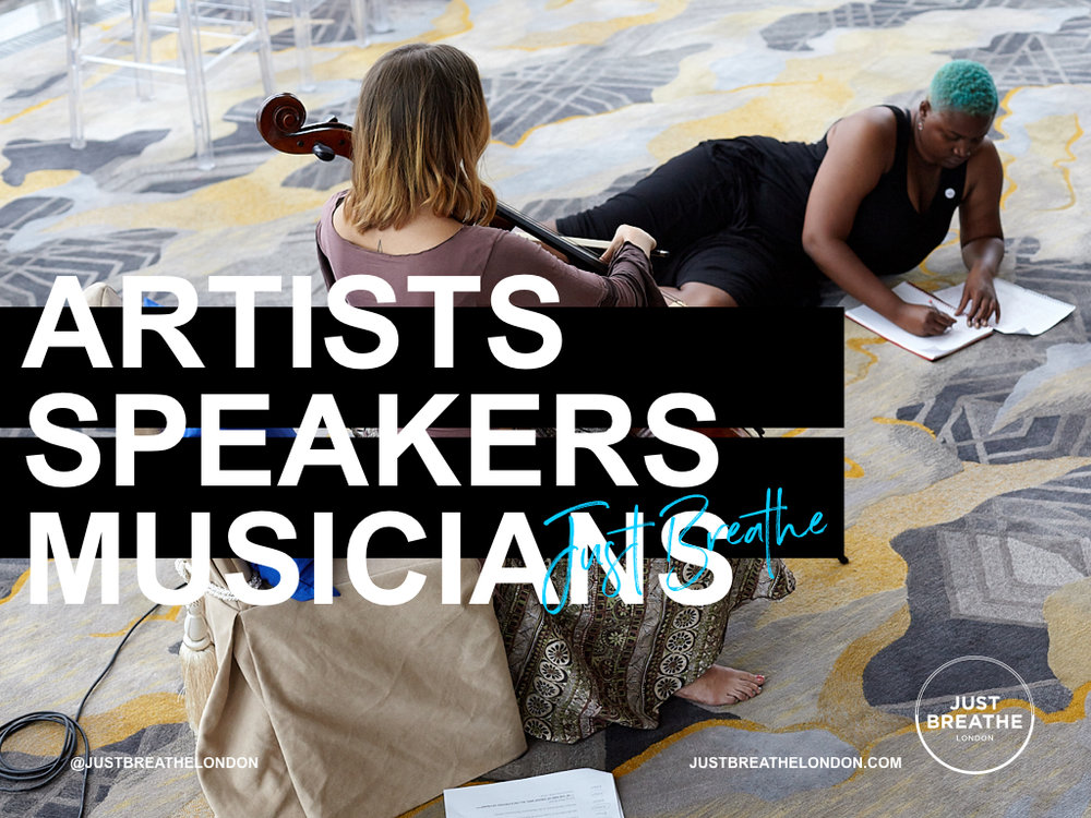 CLICK HERE TO FIND OUT MORE ABOUT ALL OUR SPEAKERS, ARTISTS & MUSICIANS