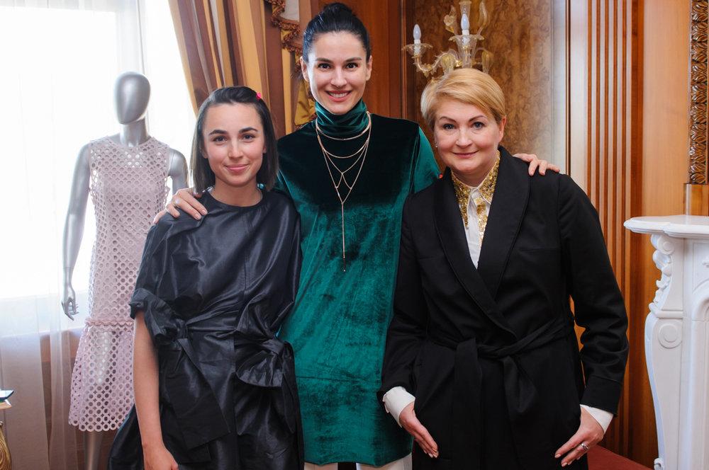 Yuliia Paskal, Masha Yefrosynina and Iryna Danylevska