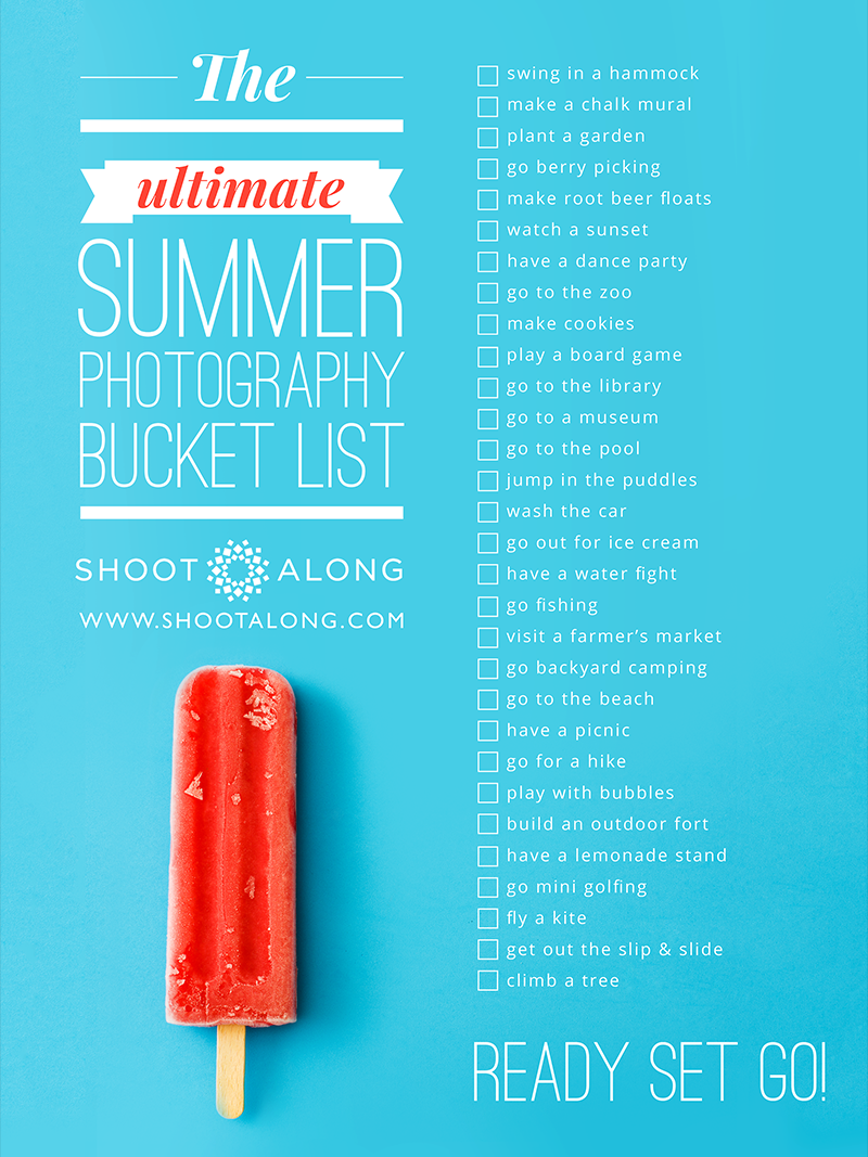 Summer photo checklist -