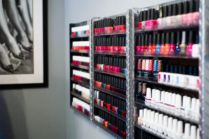 Nails Glass Door Salon Spa