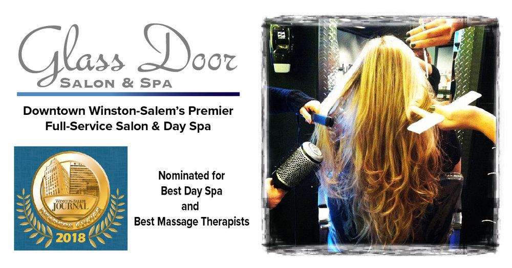 Hair Glass Door Salon Spa