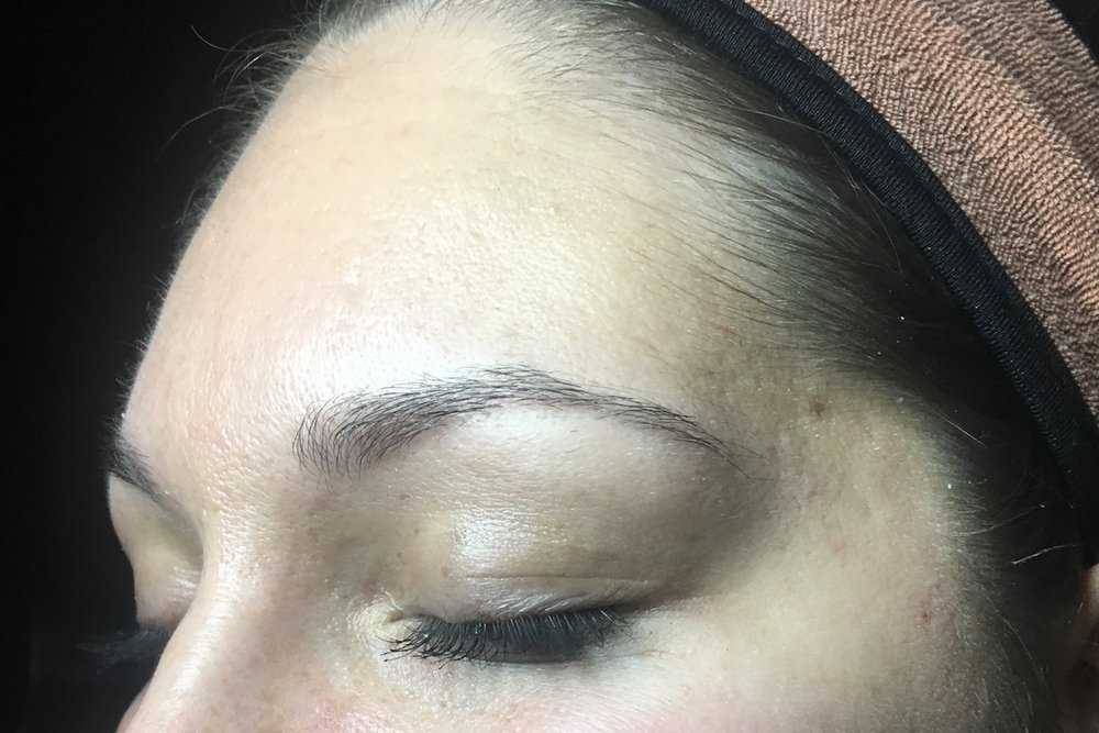 Pure Luxe client before Microblading