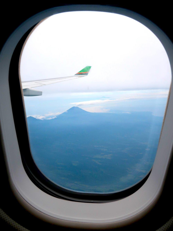 Mount Agung erupting from an airplane - Bali - Elise Darma