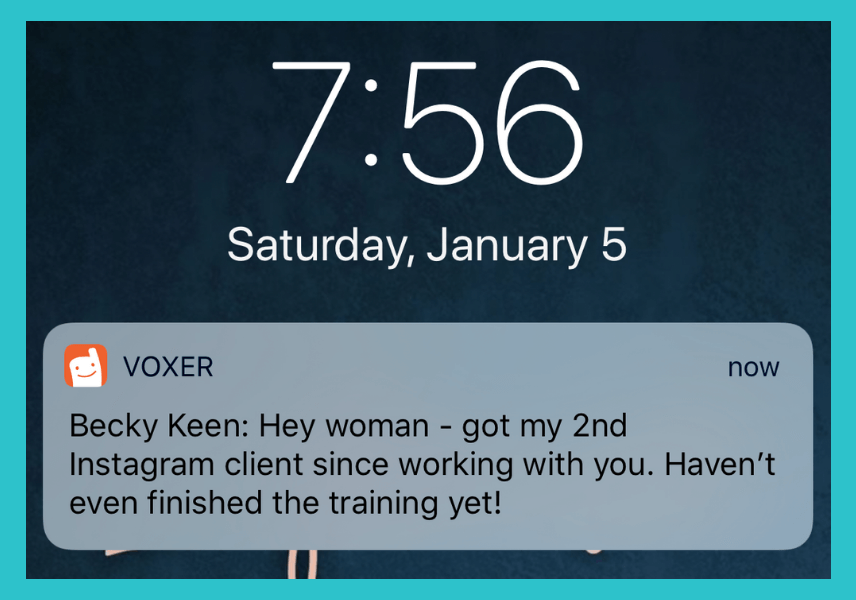 No words. In just about two weeks, Becky had locked in two clients – directly from Instagram.
