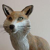 fox with mixed media