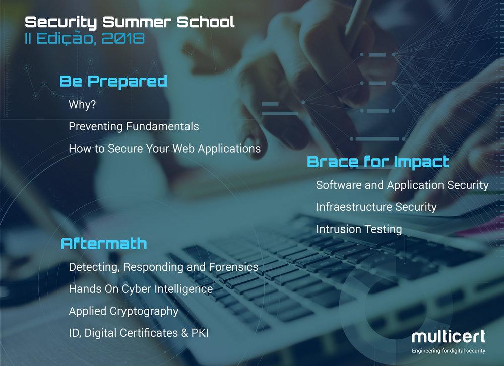 Durante 3 dias poderás aprender sobre Segurança Digital numa vertente teórica e prática.Fica atento às próximas comunicações no site e no Facebook, e inscreve-te até dia 19 de agosto! -
