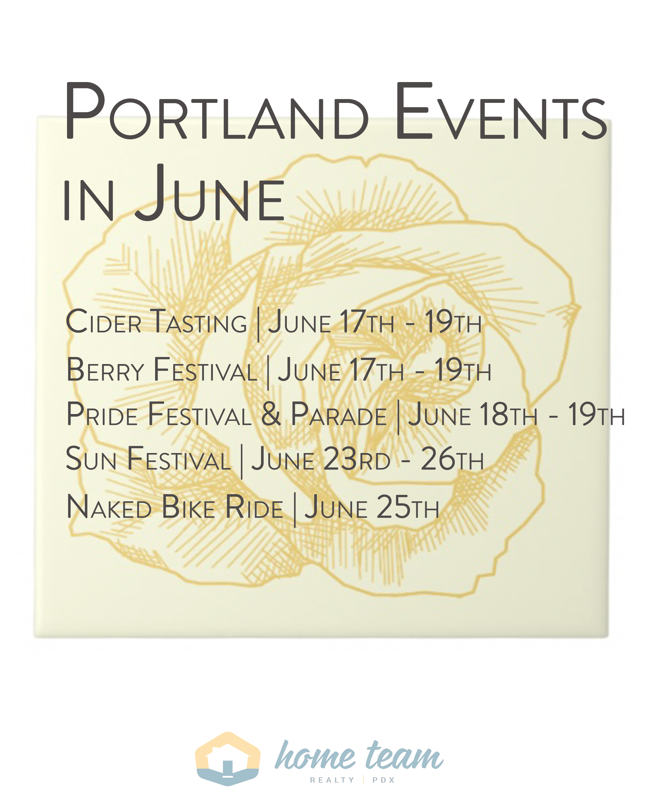 Portland Events in June