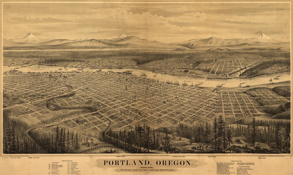 antique-portland-map
