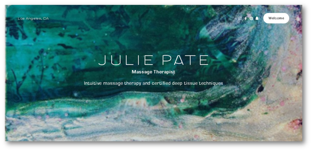 JULIE PATE - Intuitive massage therapy
