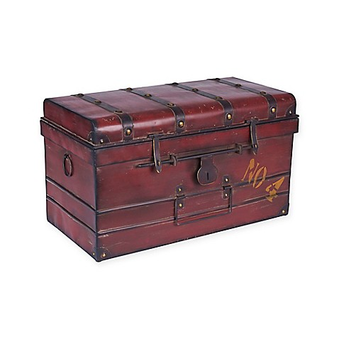 Large Metalnum Steamer Trunk by Household Essentials