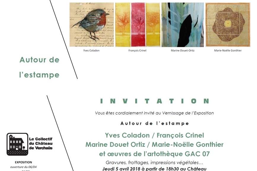 6 Avril au 6 Mai 2018  Mercredi-Samedi-Dimanche de 14h à 19h  Château de Verchaus  2823 RD86, 07220 Viviers