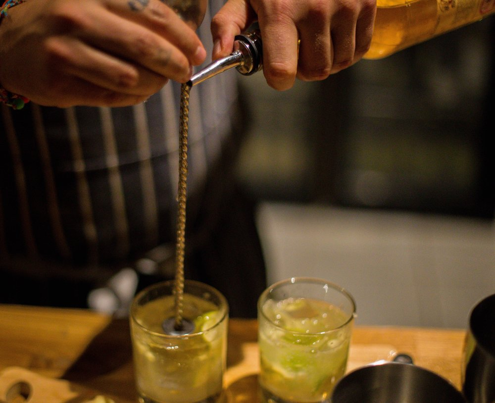 cocktail masterclass - Shake, Stir and Muddle your way through 3 different cocktails - drinking them as you go!Relax, get comfy, and our bartender will talk you through 3 cocktails, givingeveryone the chance to make their own! Feeling peckish - why not add in some food?£28 per personminimum 6 people