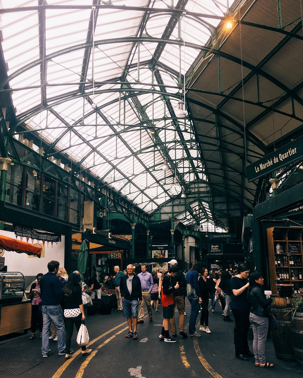 Borough Market, London, England, markets, matlag