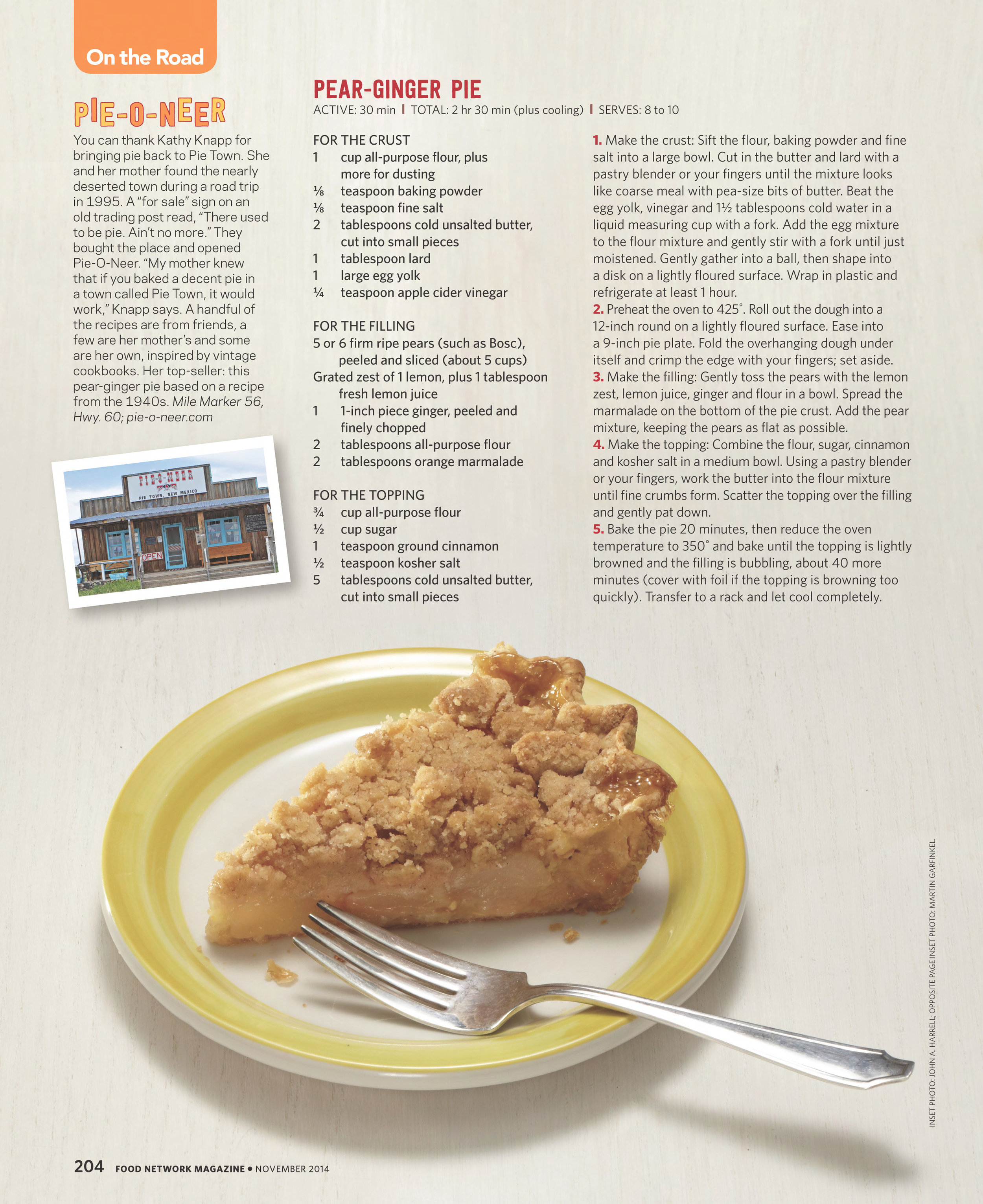 Pear-Ginger Pie Photograph by Devon Jarvis for Food Network Magazine