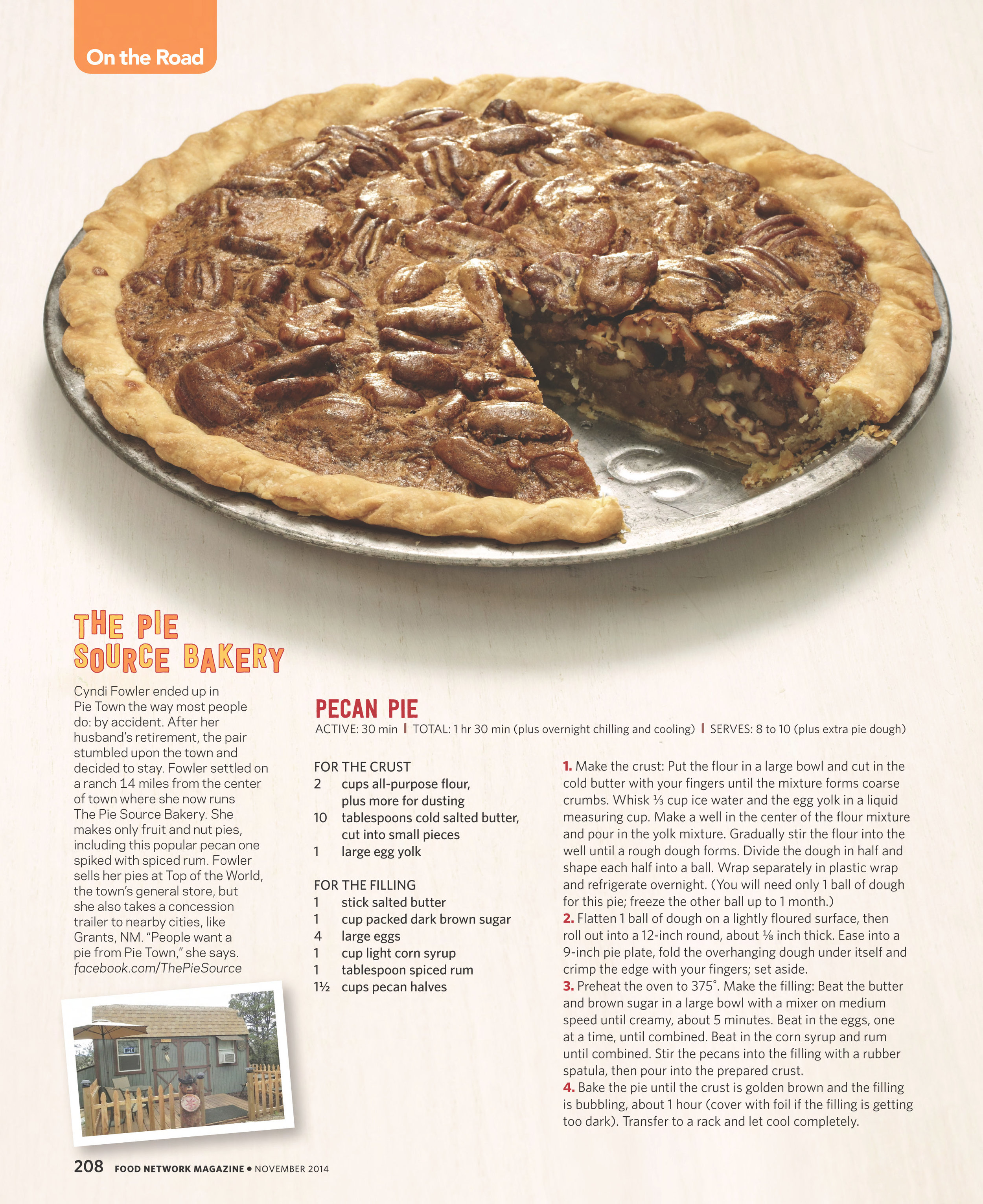 Pecan Pie photograph by Devon Jarvis for Food Network Magazine