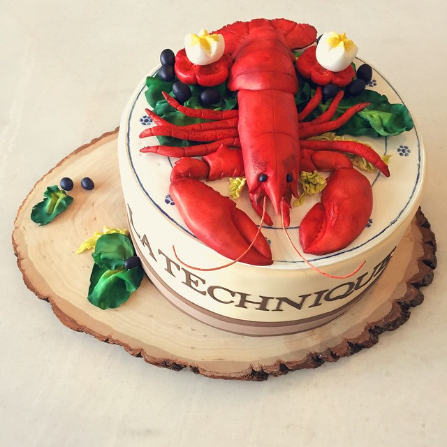 Jacques Pepin's 80th Birthday Cake. Created for Martha Stewart.