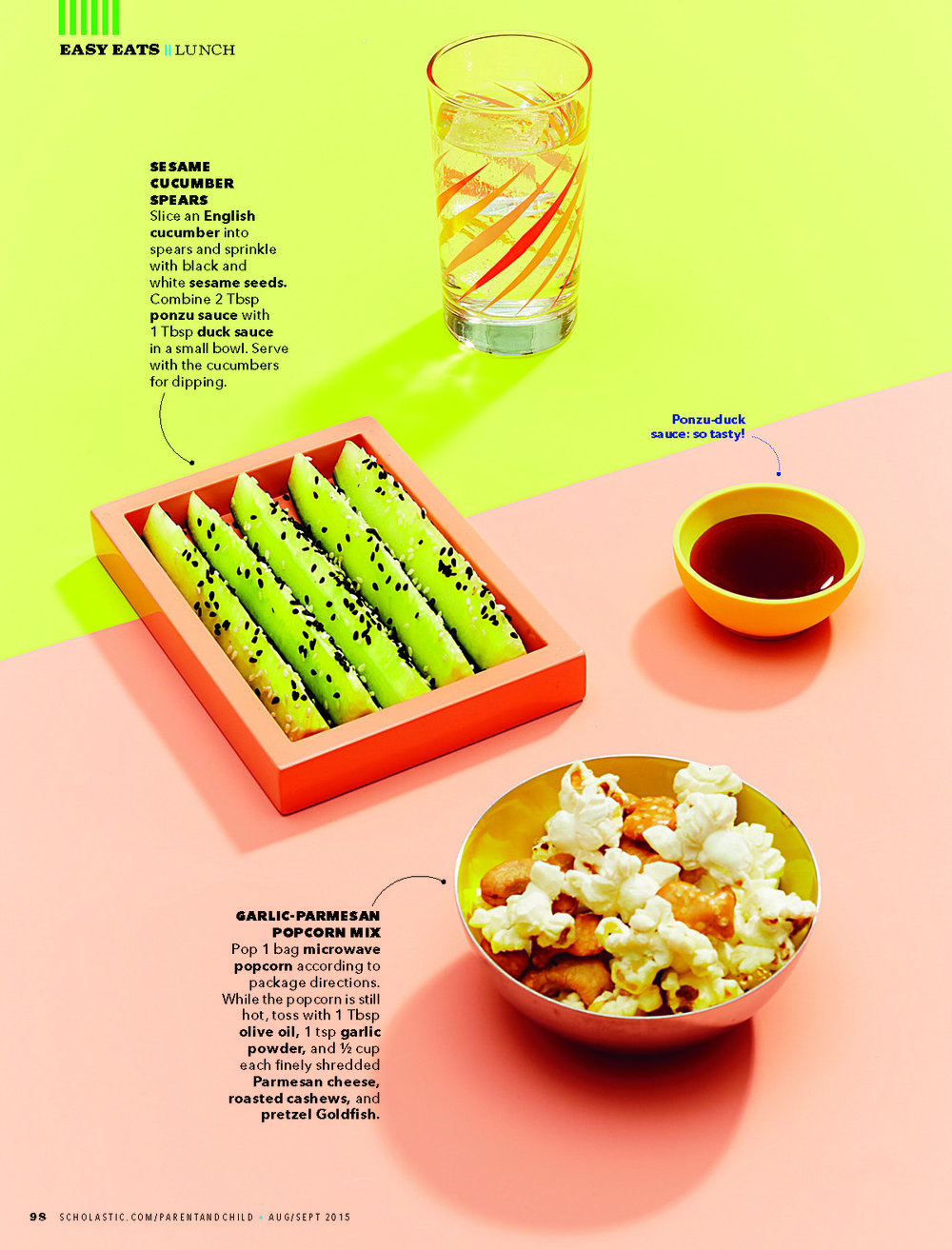 School Lunch Ideas, Parent & Child Magazine