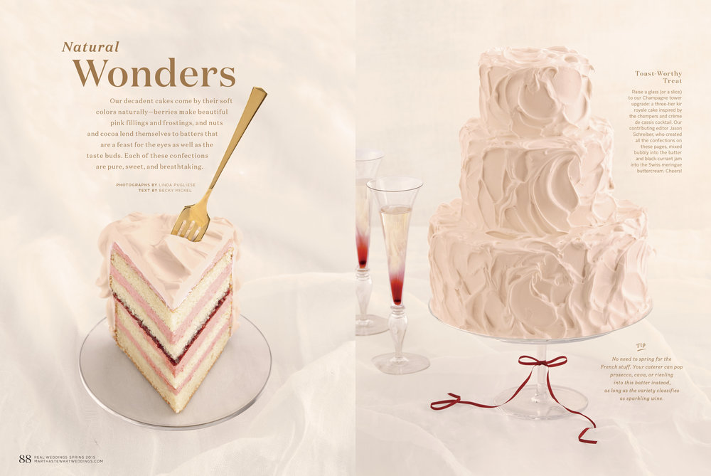 Kir Royale Wedding Cake, Martha Stewart Weddings