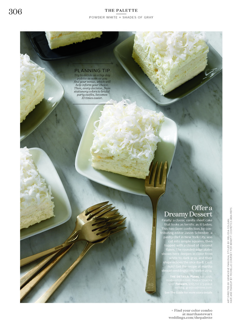 Coconut Cloud Cake, Martha Stewart Weddings