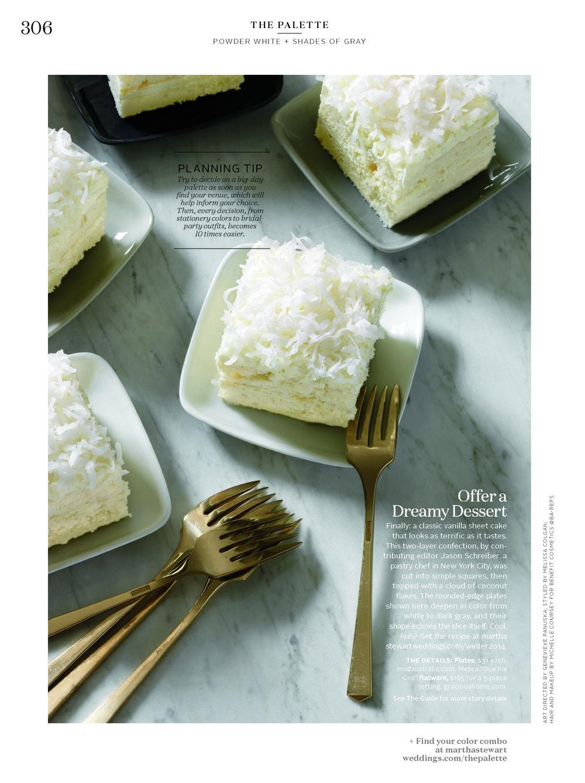 Coconut Cloud Cake, Martha Stewart Weddings