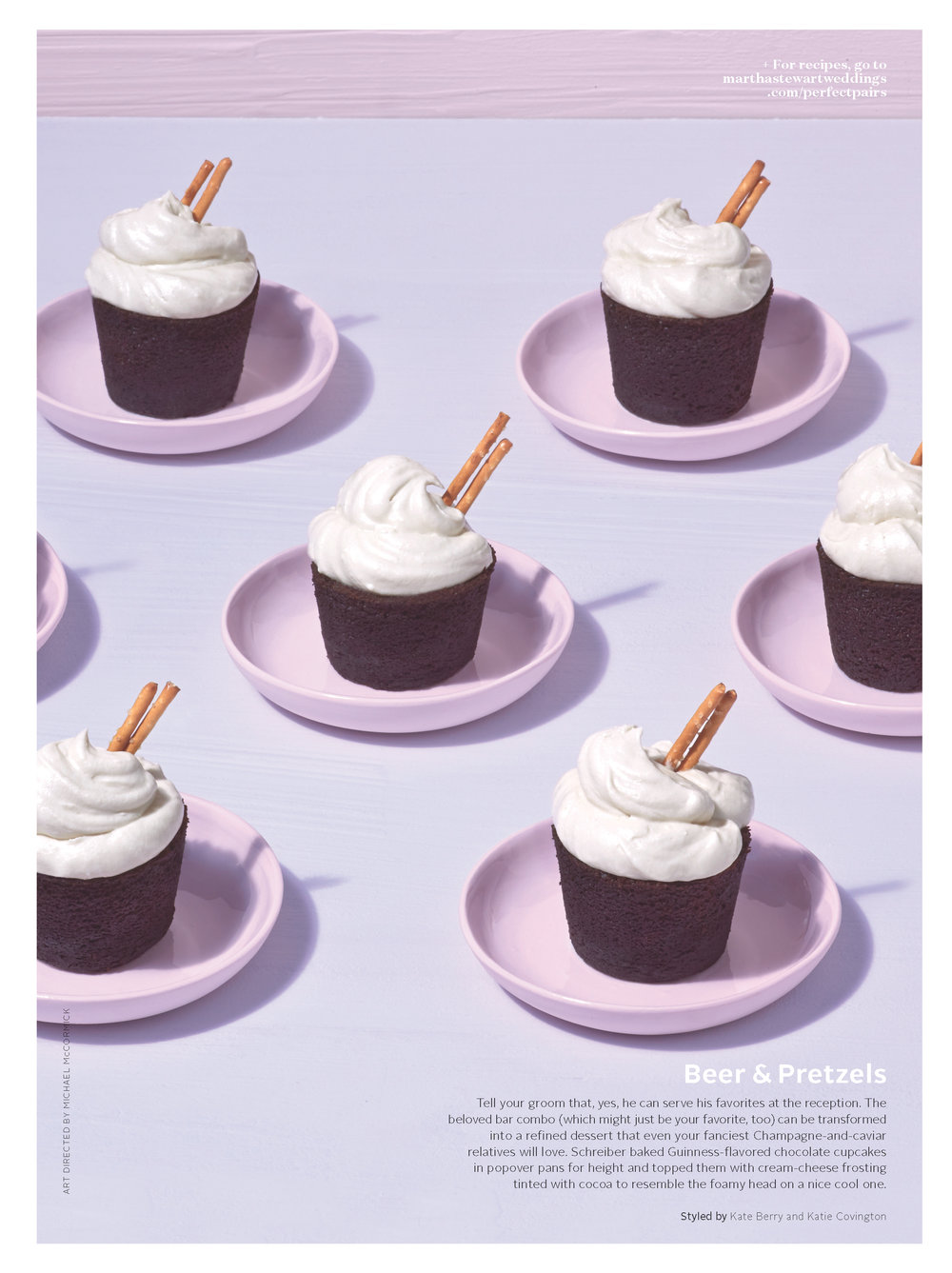 Chocolate Stout Cupcakes, Martha Stewart Weddings