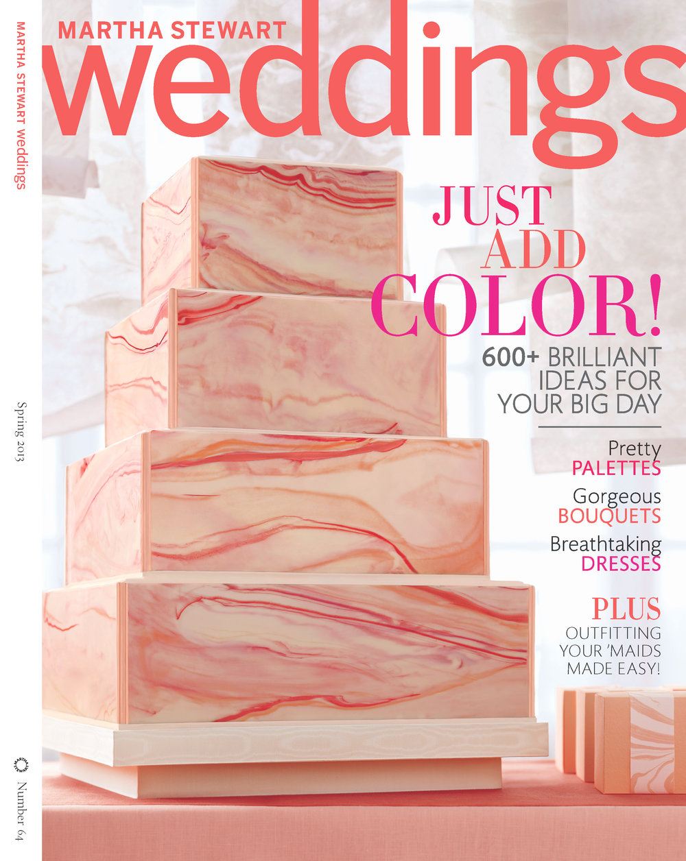 Marbleized Chocolate Wedding Cake, Martha Stewart Weddings
