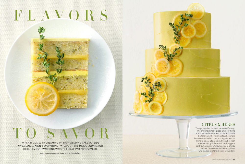 Lemon Thyme Pound Cake, Martha Stewart Weddings